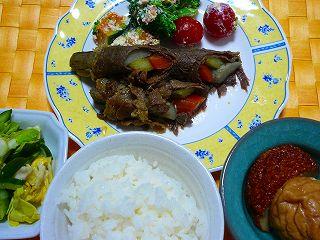 野菜牛肉まき焼き