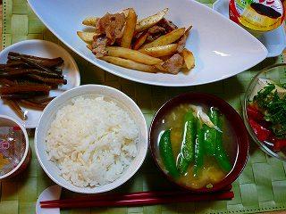 豚バラ&ポテト炒め