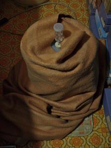 13マットと毛布て#12441;くるむ
