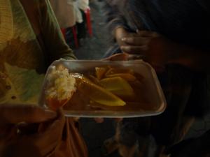 3タイ餅米にマンゴ&ココナッツミルク