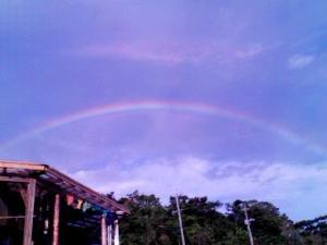八角堂の虹