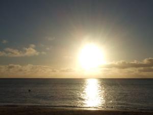 ちーこさん画像海に太陽