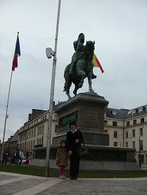 Orleansのジャンヌダルク像