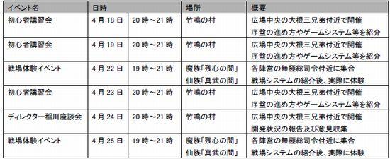 仙魔道 スケジュール