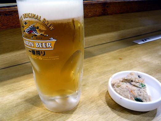 お ビール