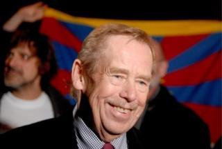 捷克前總統哈維爾 布拉格中國大使