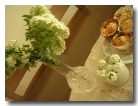 落とした花を集めました
