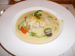 鱈のポワレ ジャガイモポタージュソース