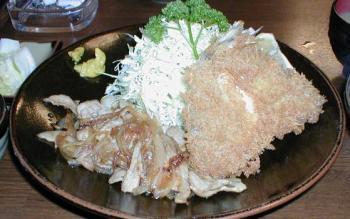 「とき和」アジフライ&生姜焼き定食