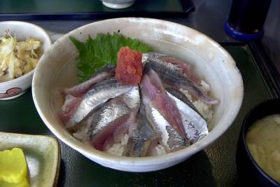 サンマ刺身丼