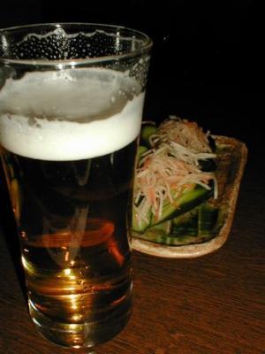 ビール&キムチ