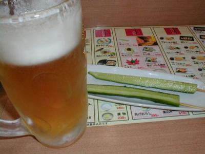 きゅうり&ビール
