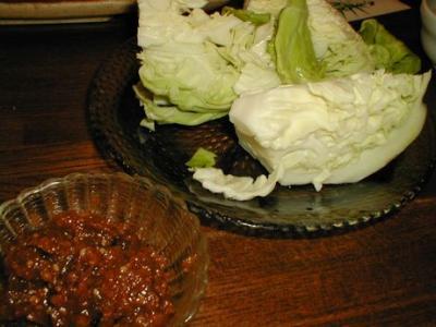 キャべ味噌