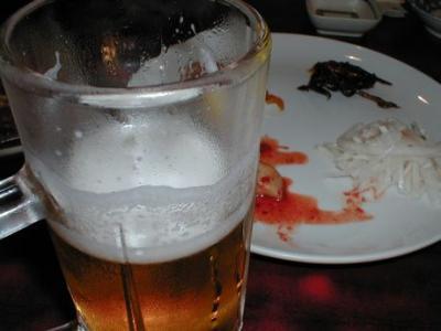つき出し&ビール