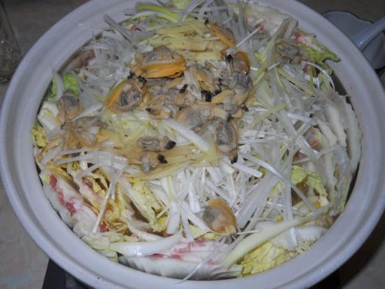 白菜豚バラ鍋 (1)