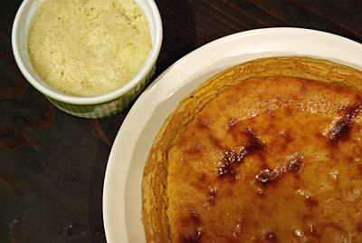 バナナミルクシャーベット&きなこケーキ