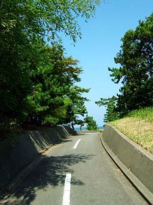 富山朝日自転車道 岩瀬側の入口