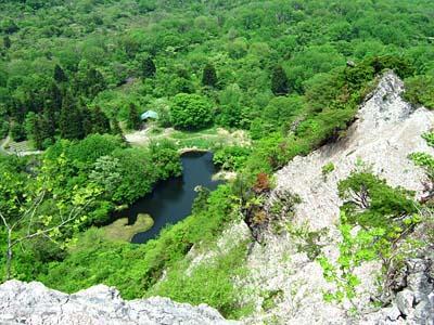 鳶岩 鳶ヶ峰から大沼