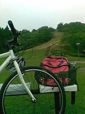 風の城 自転車で