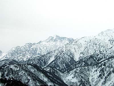大辻山頂上より剱岳