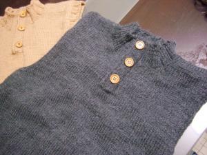 ベスト手編み