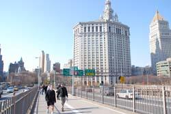 ブルックリンブリッジから見たマンハッタン1