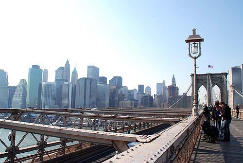 ブルックリンブリッジから見たマンハッタン2