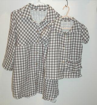 ダブルガーゼのシャツチュニック