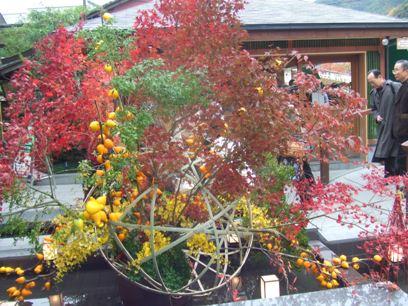 秋らしい飾りつけ♪