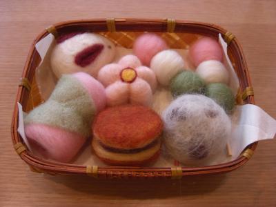 フェルト和菓子