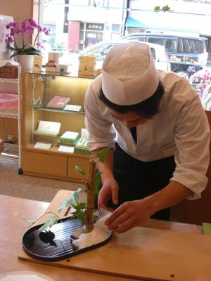 0907工芸菓子朝顔1
