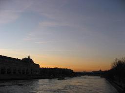セーヌ川の夕陽