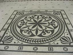 モザイクの床
