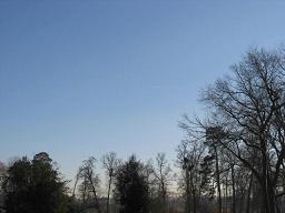 ベルサイユの飛行機雲