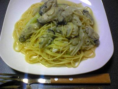 牡蠣パスタ