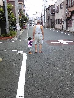 じっちゃんと散歩