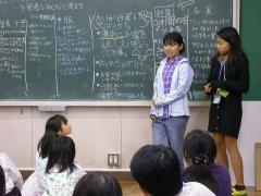 ◆◆反省会議・各チーム発表・お化け屋敷苑子&ゆか.JPG