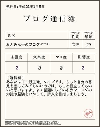 ブログ通信簿21.1.5