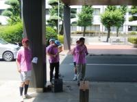 石川稔も大汗をかいています。