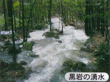 黒岩の湧水