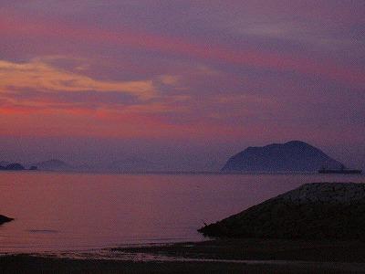 粟島の夕焼け2
