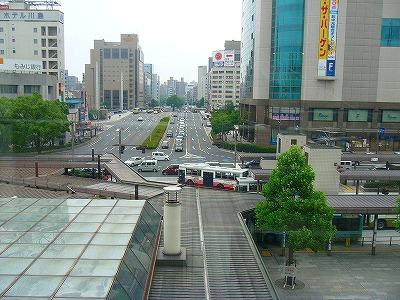 広島駅南口から見た所