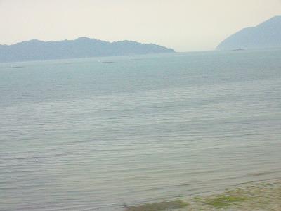 瀬戸内海は雨