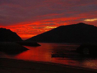 馬城海岸夕日1