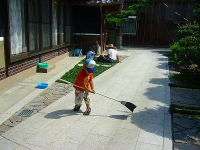 お掃除と草抜き