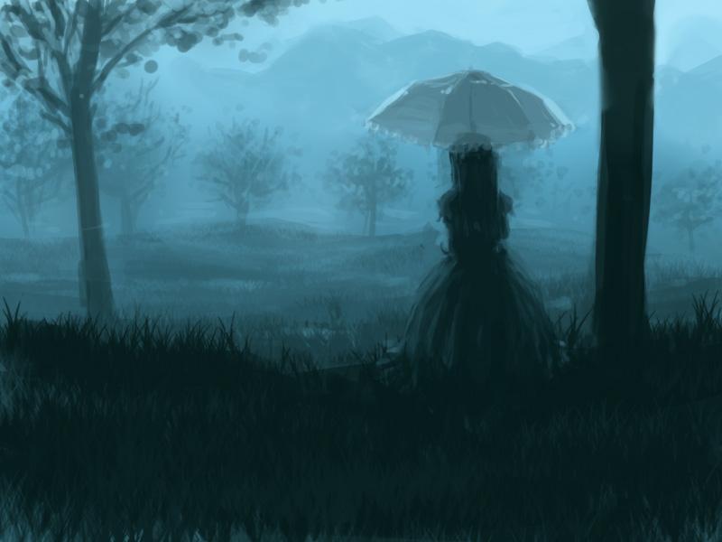 雨の日の姫様