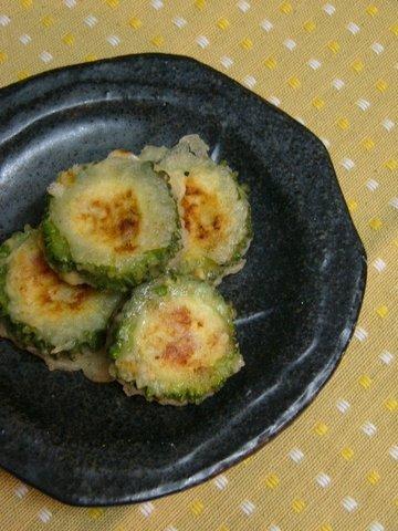 ゴーヤの豆腐&ポーク詰め