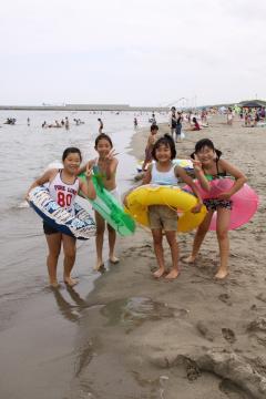 海水浴 バーベキュー 藤塚浜海水浴場