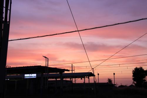 日本海 坂町の夕日