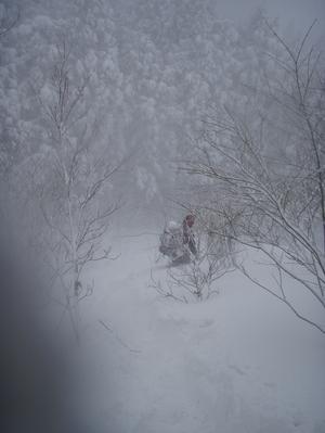 谷川連峰タカマタギ・雪洞くずれた!